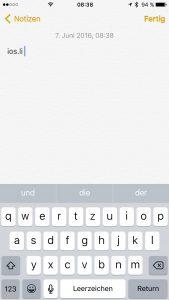 Tastatur-ios-li